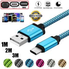 1M 2M 3M Fuerte Trenzad Micro USB Type-C IOS Rápid Cargador Cargando Datos Cable