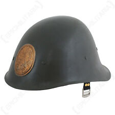 WW2 Dutch M34 Helmet -Repro WWII Military Soldier Army Steel Copper Shield Hat