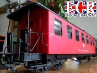 BRAND NEW G SCALE 45mm GAUGE RAILWAY PASSENGER RED CARRIAGE COACH GARDEN TRAIN
