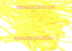 """1000 x 4"""" Inch NYLON 66 (UL) 3 x 100mm Yellow Color Cable Zip Tie Fastern Wrap"""