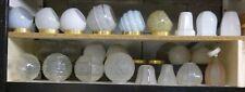 ENORME STOCK GLOBE APPLIQUE PLAFONNIER LAMPE OPALINE VERRE LOFT VINTAGE 1