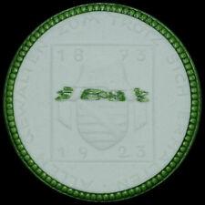 DRESDEN / SACHSEN: Porzellan-Medaille 1922. SÄCHSISCHER MILITÄRVEREINS-BUND.