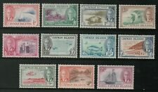 Sc122 -132 set to 2/- -  Cayman Islands - 1950 - MLH - superfleas  cv$40