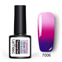 8ml LEMOOC UV Gel Polish Thermal Color Changing Nail Soak off UV Gel Varnish #6