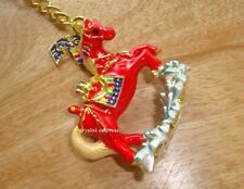 Feng Shui - 2018 Red Bejeweled Wind Horse Keychain