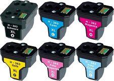 6x XXL PATRONEN für HP363 C6150 C6180 D6160 C6280 C7250 D7160 D7260 D7360 D7460