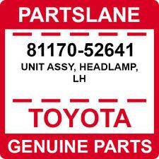 81170-52641 Toyota OEM Genuine UNIT ASSY, HEADLAMP, LH