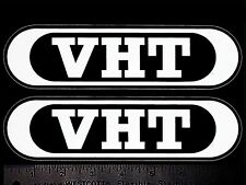 VHT - Set of 2 Original Vintage 1960's 70's Racing Decals/Stickers