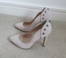 River island Super sexy genuine suede Leather studded court heels light grey 7
