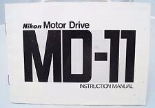 Nikon Md-11 motor drive instruction manual 1977