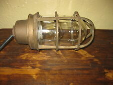 Vintage Russell & Stoll Solid Brass Ship's Light Explosion Proof