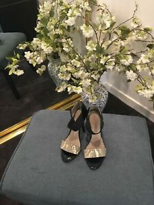 David Lawrence Heels Black And Gold