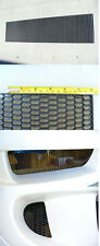Universal Small ABS Plastic Racing Honeycomb Hex Mesh Grill Hood Bumper BLACK1pc