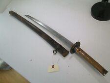 OLD JAPANESE SAMURAI wakisashi SWORD SIGNED TADAYUKI NICE TSUBA #X16
