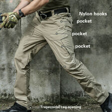 Men Tactical Cargo Outdoor Pants Military Sport Work Trousers Camo Multi Pocket