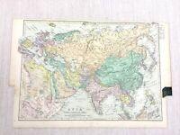 1892 Antik Map Of Asien Europa North East Afrika 19th Jahrhundert G W Bacon