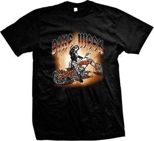 Bike Week Hot Girl Tattoos Chopper Motorcycle Ride Biker  Mens T-shirt