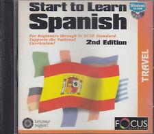 Start To Learn Spanish CD Rom Beginners - GCSE Interactive Audio Coaching Study