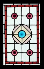 Pretty Victorian Rondels Antique English Stained Glass Window
