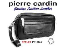 Pierre Cardin Mens Genuine Italian Leather Handy Travel Black Bag PC10165