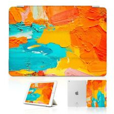 ( For iPad 2 3 4 ) Front Back Case Cover PB40096 Abstract Paint