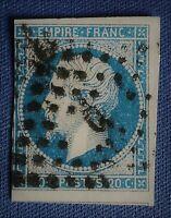 """n°14 Type I A, Empire  (TB 551),oblit. Bureau de quartier Lettre BATON """"C"""" ou """"G"""