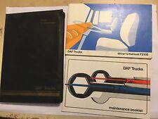 DAF F2100 TRUCK DRIVERS INSTRUCTION MANUAL OWNERS HANDBOOK & SERVICE LOG 1983