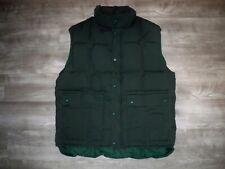 Vintage Eddie Bauer Puffer Puffy Goose Down Hunter Green Men's Vest Size Large