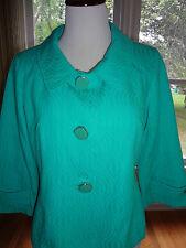 NWT Women's Frenz Petite by Theresa Renz Green Designer Blazer/Jacket in size PL
