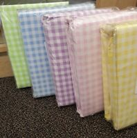 Company Store Gingham percale Duvet Covers Or Bed Sheet Yellow,Green,Pink,Blue