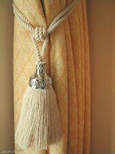 2 Tendine nappa fermatende Grande Finiture cromate cotone naturale corda legacci