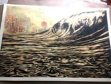 🔥 SIGNED! Shepard Fairey DARK WAVE Original Art Print Poster Obey Giant 24x36