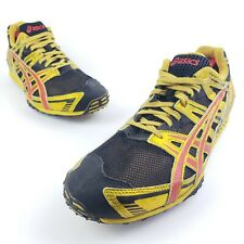 Asics Gel Dirt Dog 2 Mens Track Running Cleats Black Yellow Size 10.5