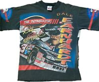 Vintage 90s Dale Earnhardt The Intimidator T-Shirt All Over Print Winston Cup L