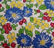 PC VINTAGE COTTON PRINT-BOLD FLORAL-FABRIC-QUILT-CRAFT-SEWING-ART