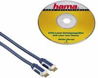 Hama Starter Set für Blu-Ray TV HDMI-Kabel DVD Reinigungsdisc 1,5m blau