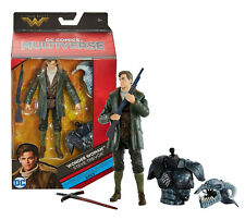 """DC Multiverse Wonder Woman Steve Trevor 6"""" Figure with Ares BAF New in Box"""