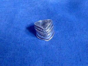 breiter Silberring für Damen