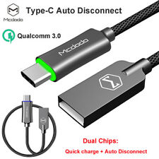 Mcdodo Auto Disconnect Type-C USB Cable 3.0 Quick Charger Samsung S9 Note 9 8 LG
