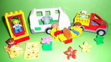 LEGO DUPLO Camping,Wohnwagen,Ausflug,Anhänger,Auto,Schaukel,Figuren,..