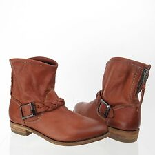Women's Blackstone DL04 Shoes Brown Leather Ankle Boots Size EU 36 NEW MSRP $298