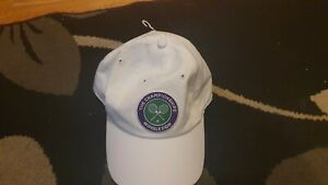 WIMBLEDON TENNIS OFFICIAL BASEBALL CAP WHITE NEW WITH OUT TAGS
