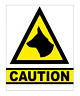 CAUTION DOGS SIGN, MULTI OPTIONS, STICKER / MAGNET / BOARD  (t29)