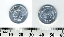 China, People's Republic 1982 - 1 Fen Aluminum Coin - National emblem