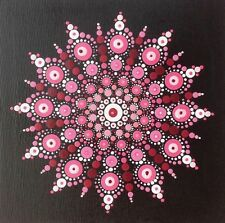 """Mandala """"Pink Delight"""" Healing Canvas - Hand Painted In Australia"""
