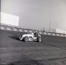 Race Car #2 on Dirt Track - USAC ?? - Vintage B&W 120mm Race Slide