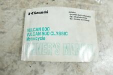 00 Kawasaki VN 800 VN800 Vulcan Owners Manual Libro