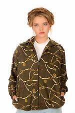 statement print Khaki green & gold baroque chain print jacket by Bonworth