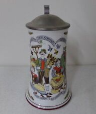 Jahreszeiten Vintage Lidded Beer Stein Designed by Susanne Dolker ~ West Germany