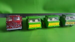 Matchbox Super Kings 3 K-20 DAF Cargo Hauler Trucks  Scammel K24 Container Truck